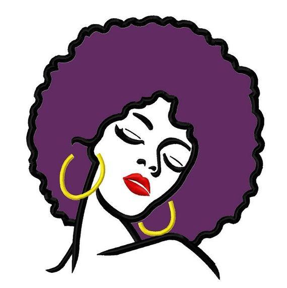 Affro hair applique