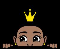 Afro puff crown girl peekaboo 4