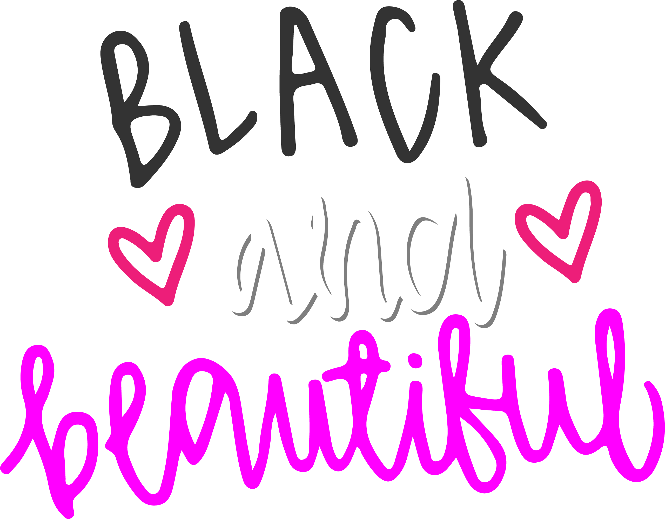 Black and beautiful color