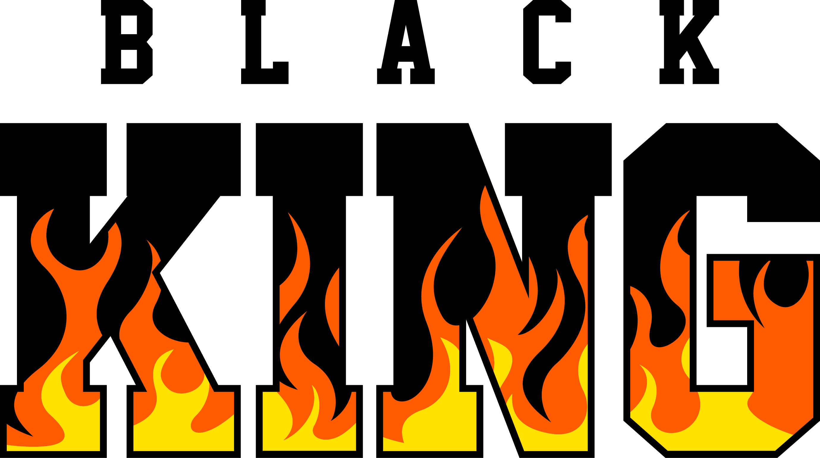 Black king flames
