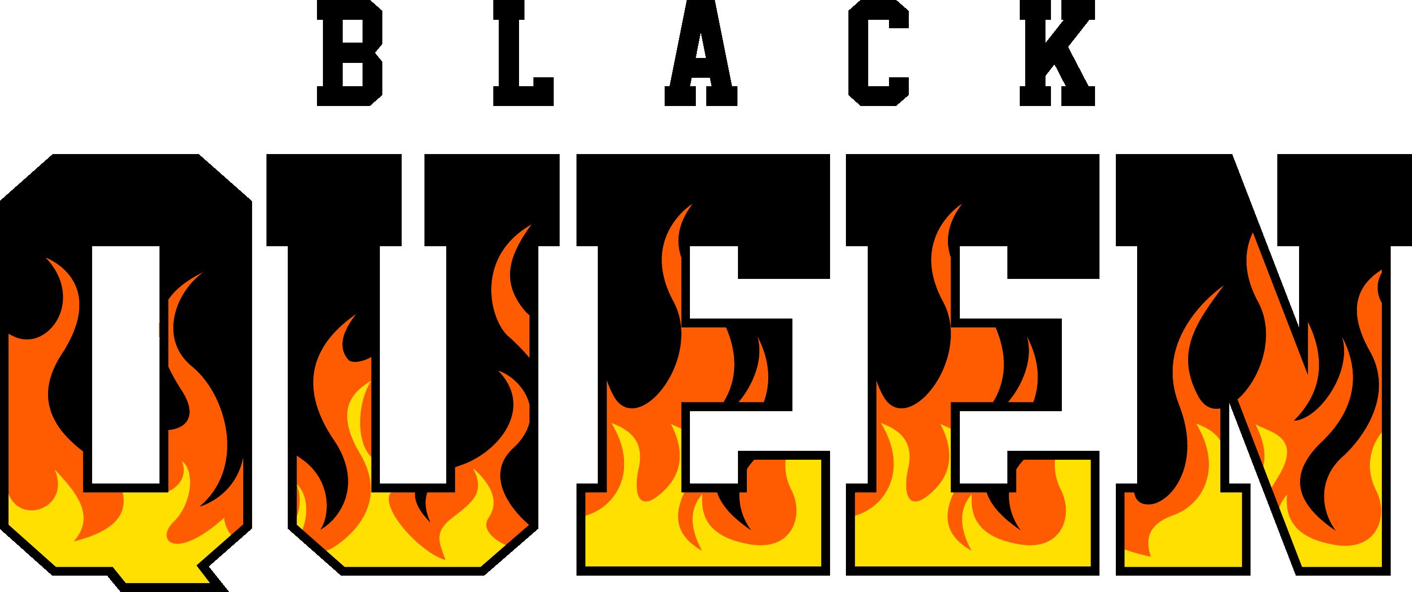 Black queen flames