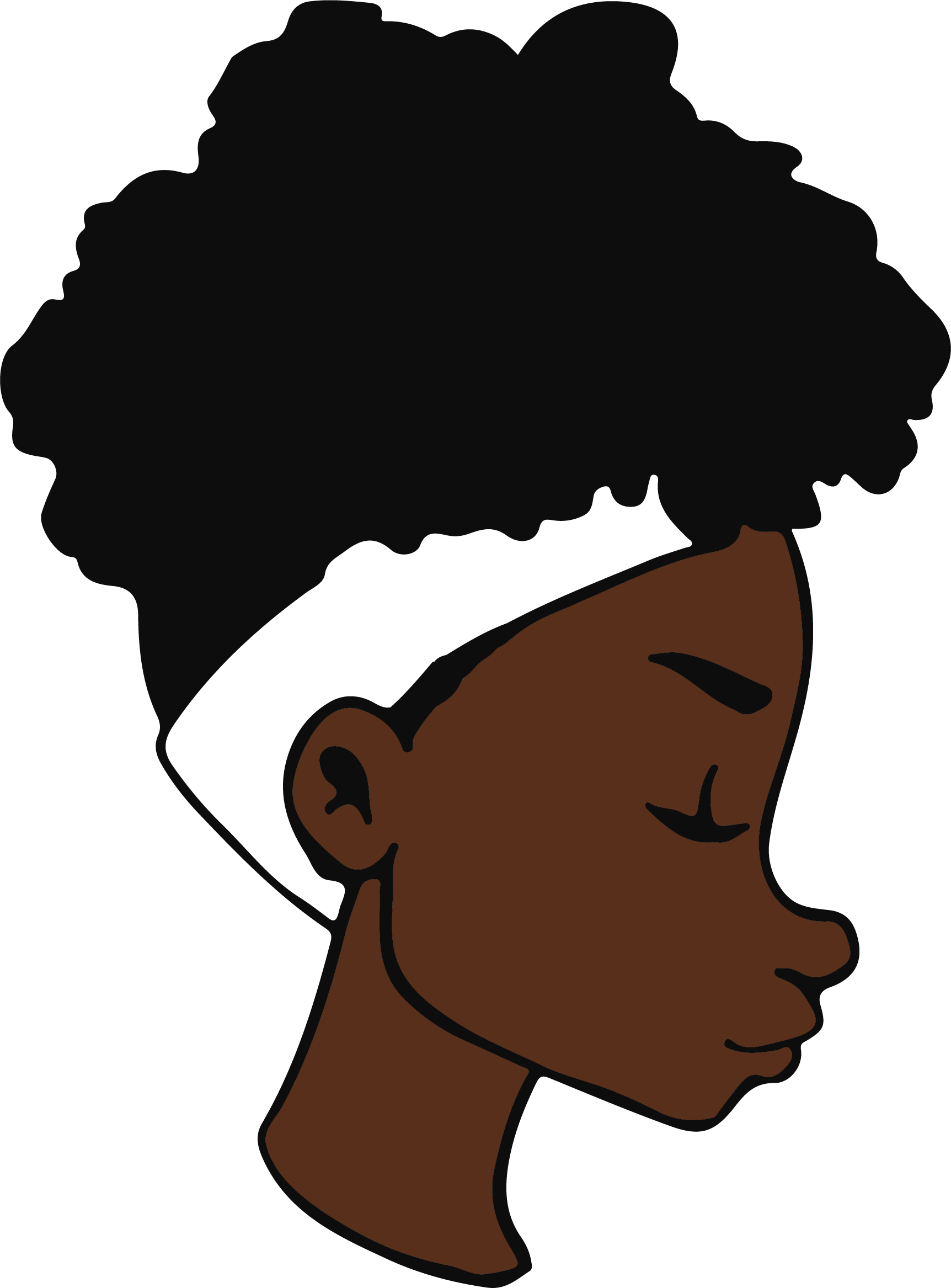 Black woman afro