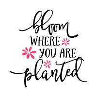 Bloom where you are planted svg cut file