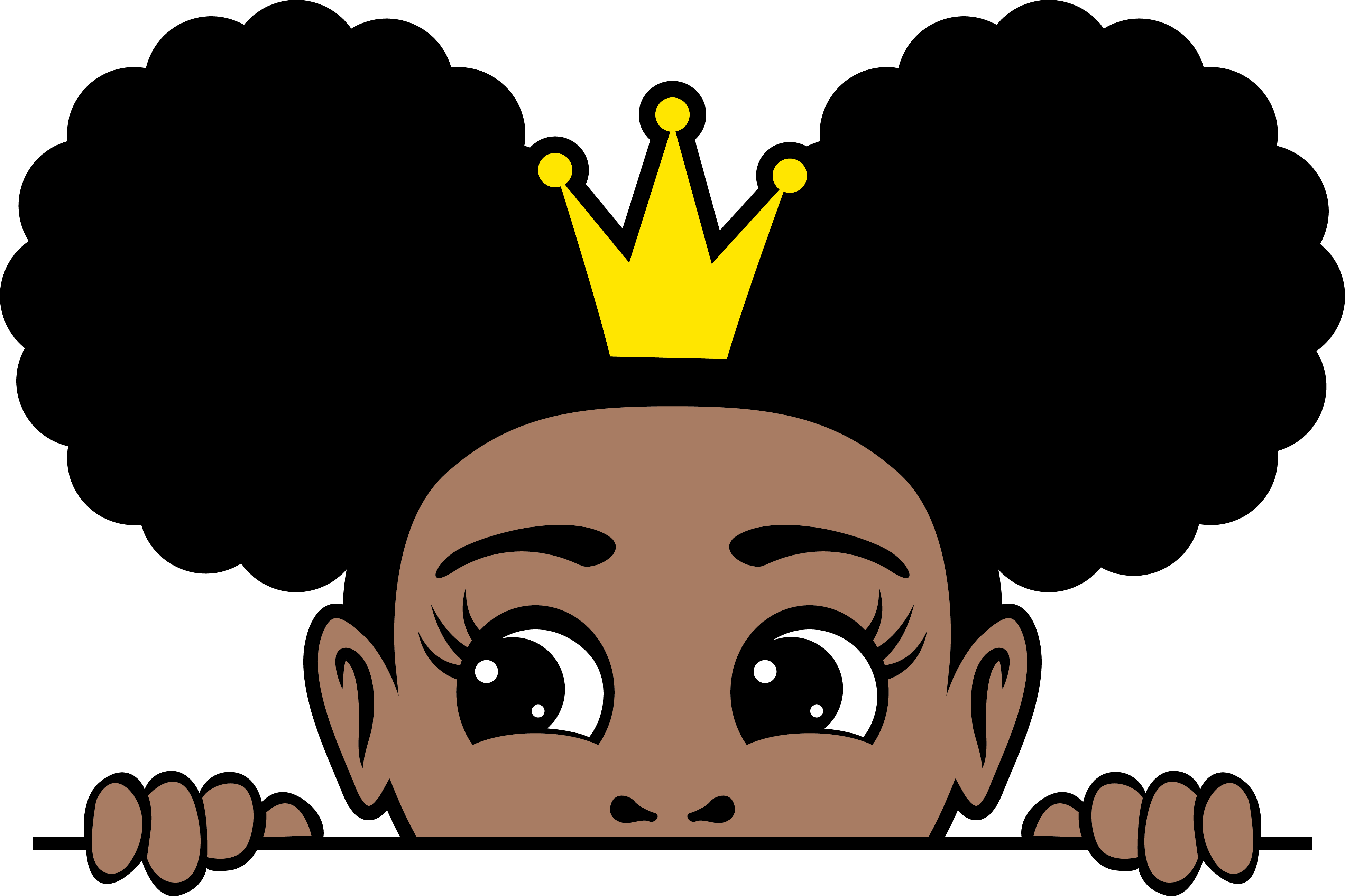 Crown afro puffs 9
