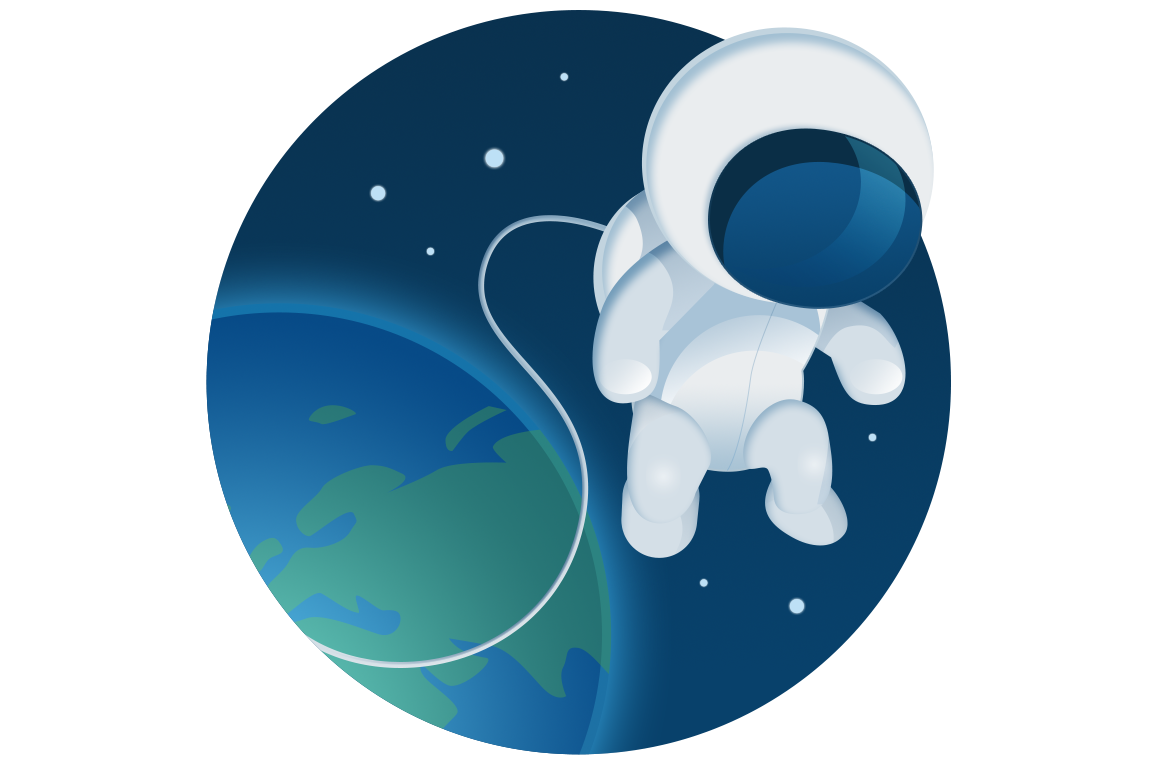 Hi res astronaut