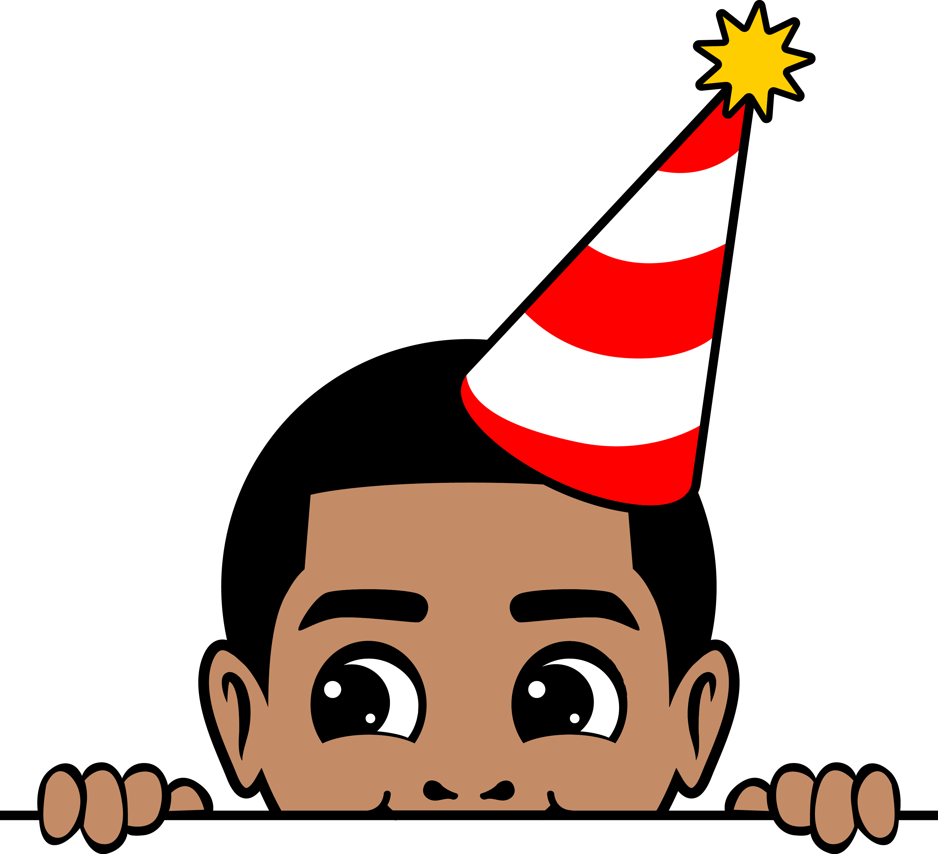 Peekaboo afro birthday boy 1