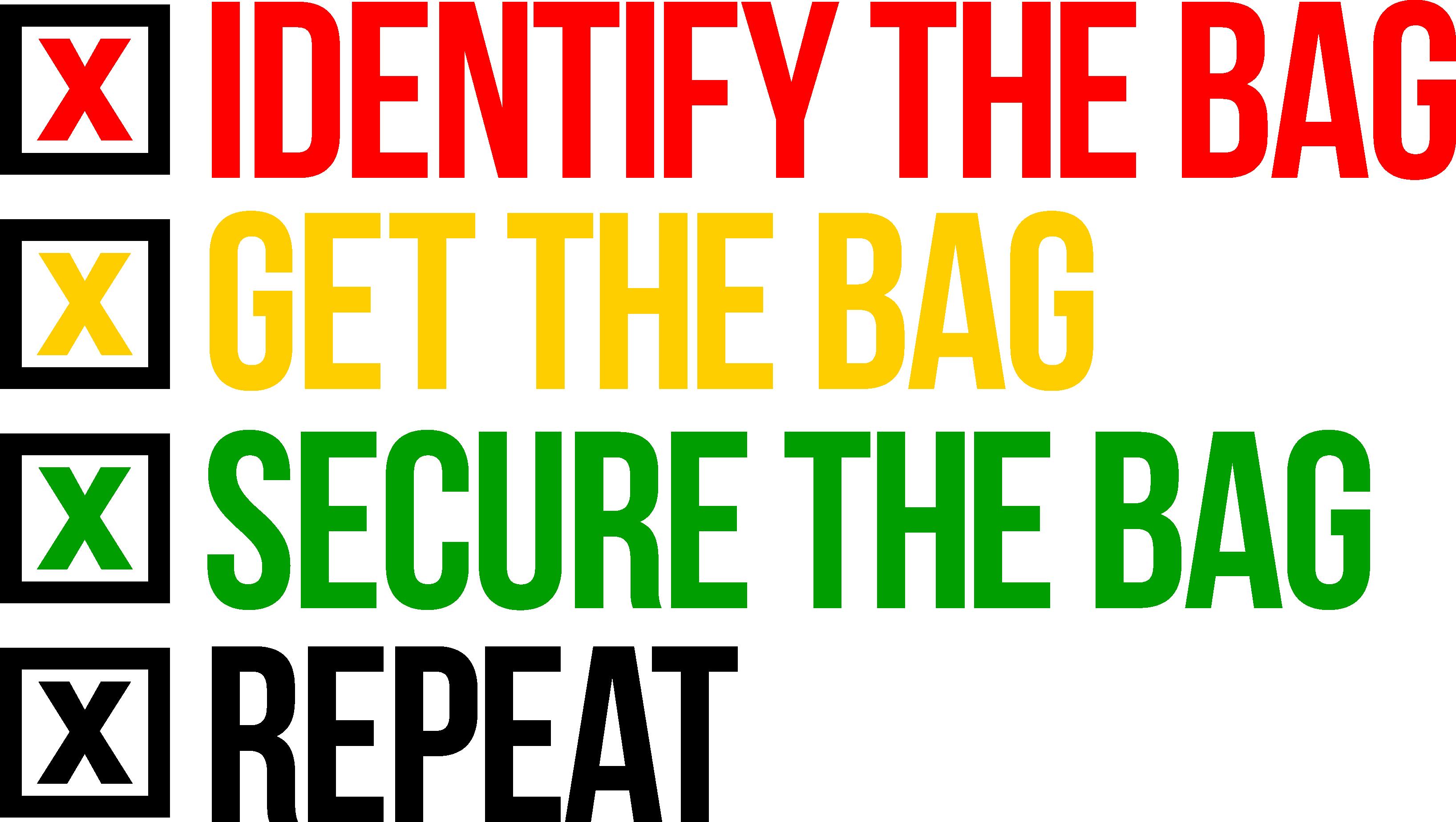 Securethebagsteps