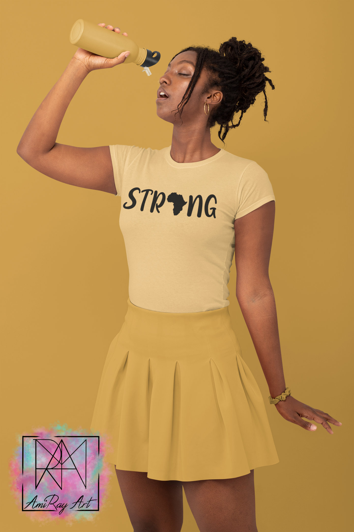 Strong afro mockup