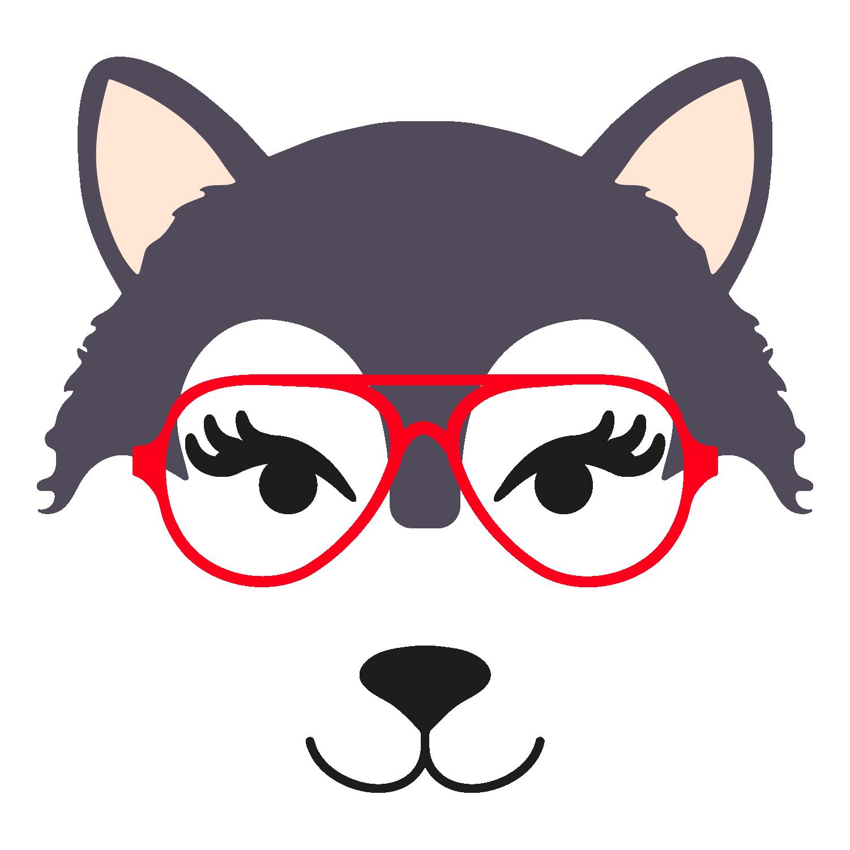 Wolf glasses girl 1