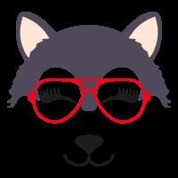 Wolf glasses girl 2
