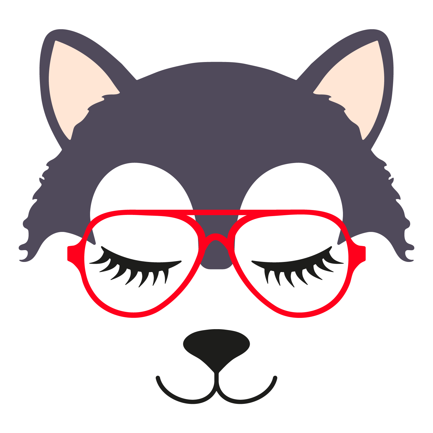 Wolf glasses girl 3