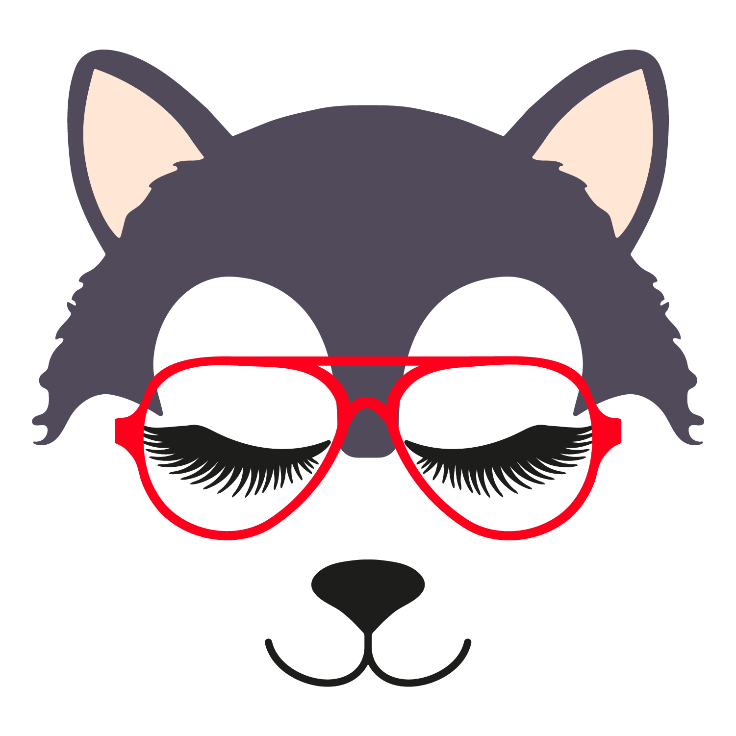 Wolf glasses girl 4