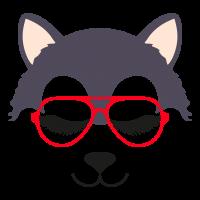 Wolf glasses girl 4