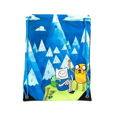 Adventure time gym bag jake and finn blue mountain