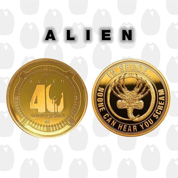Alien 40eme anniversaire piece de collection edition limitee or