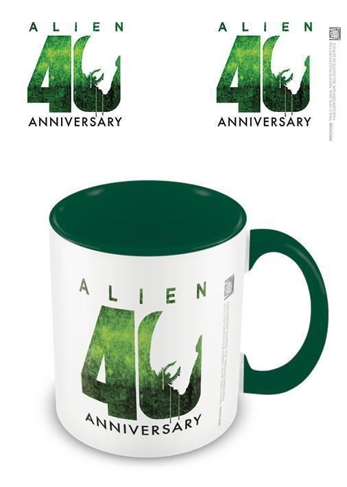 Alien 40th anniversary mug interieur colore 315ml