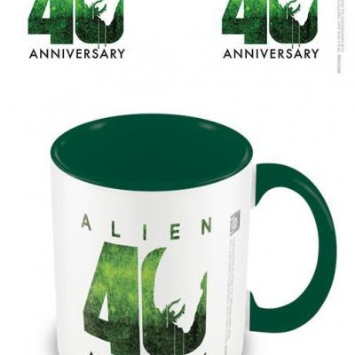 Alien 40th anniversary mug interieur colore 315ml