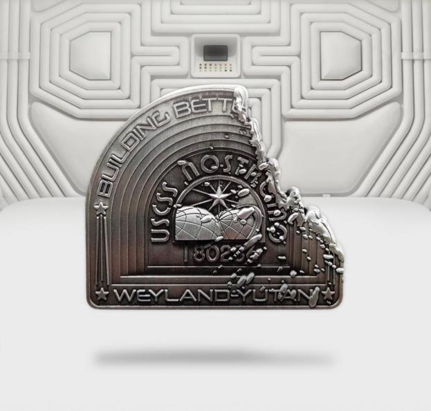 Alien nostromo acid badge en metal