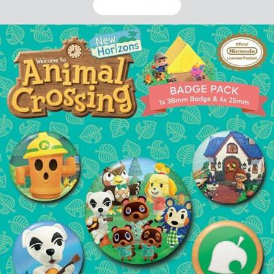 Animal crossing islander pack de 5 badges