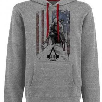 Assassin s creed 3 sweatshirt flag and connor grey