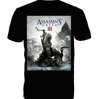 Assassin s creed 3 t shirt black game cover