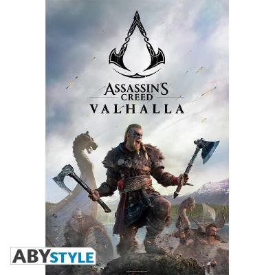 Assassin s crred valhalla raid poster 91x61