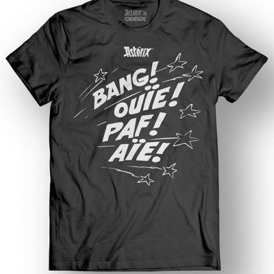 Asterix obelix t shirt bang ouie paf aie black