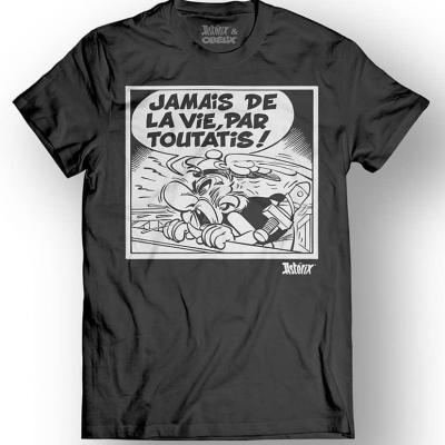 Asterix obelix t shirt jamais de la vie black