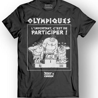 Asterix obelix t shirt olympiques black