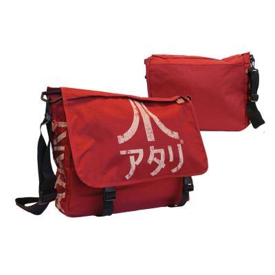 Atari messenger bag dark red with japanese logo