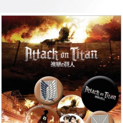 Attack on titan mix pack de 5 badges