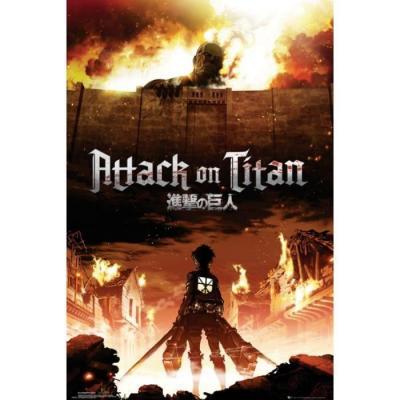 Attack on titan poster 61x91 key art