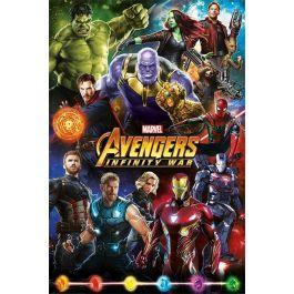 Avenger infinity war poster 61x91 characters
