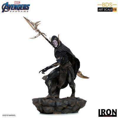 Avengers endgame bds art 1 10eme corvus glaive black order 27cm