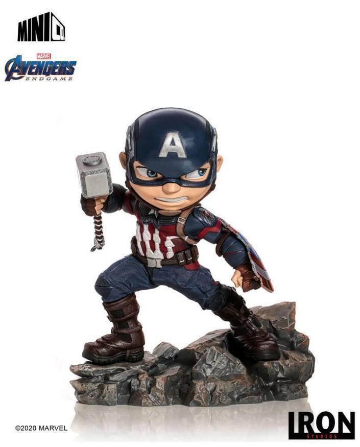 Avengers endgame captain america figurine mini co 15cm
