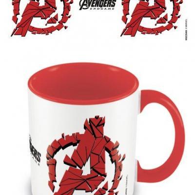 Avengers endgame shattered logo mug interieur colore 315ml