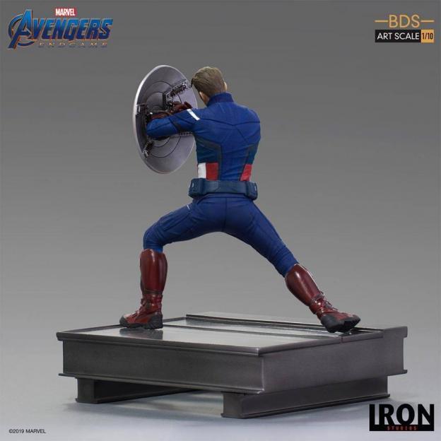 Avengers endgame statuette bds art captain america 2023 19cm 1