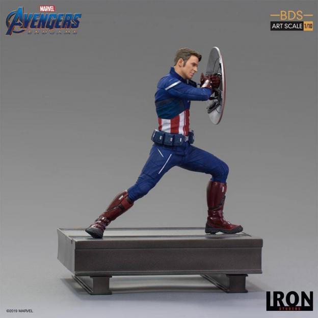 Avengers endgame statuette bds art captain america 2023 19cm 2