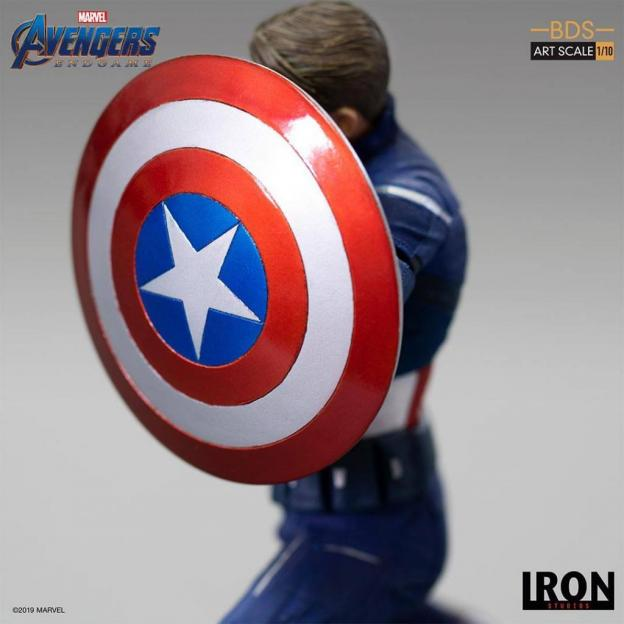 Avengers endgame statuette bds art captain america 2023 19cm 3