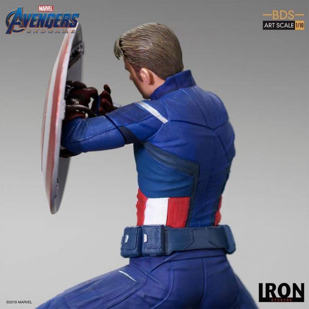Avengers endgame statuette bds art captain america 2023 19cm 4