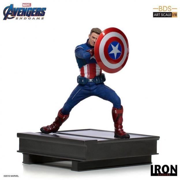 Avengers endgame statuette bds art captain america 2023 19cm