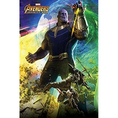 Avengers infinity war poster 61x91 diorama 2 3 thanos