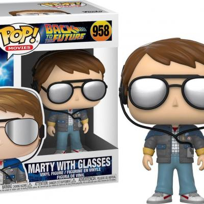 Back to the future bobble head pop n 958 marty w glasses