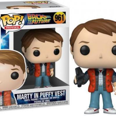 Back to the future bobble head pop n 961 marty in puffy vest