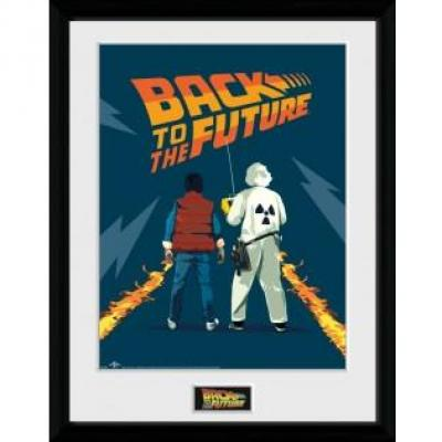 Back to the future collector print 30x40 doc and marty