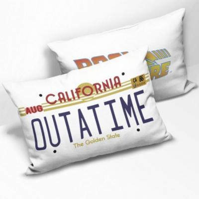 Back to the future coussin rectangulaire outatime