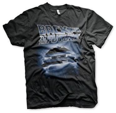 Back to the future flying delorean t shirt