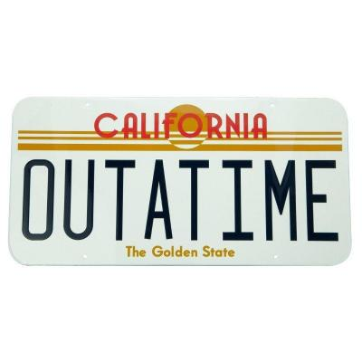 Back to the future outatime plaque metal 28x38cm