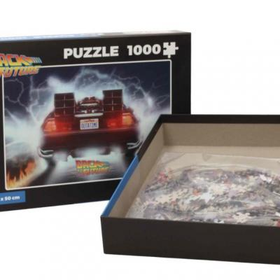 Back to the future puzzle 1000p delorean out of tme