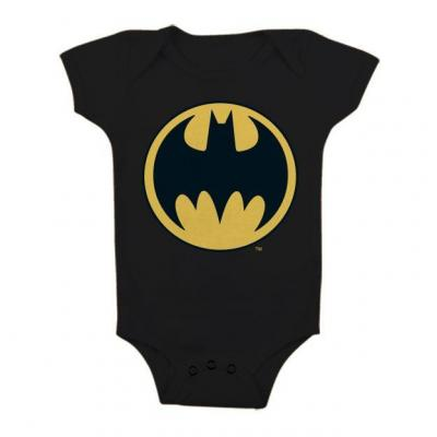 Batman baby body logo black